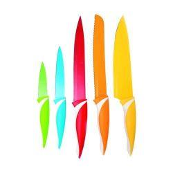 5 dílná sada nožů s nepřilnavým povrchem, SYMBIO Colore Barevné