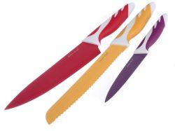 Ocelové nože s keramickým povrchem 3 ks