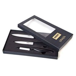 Zobrazit detail - Keramické nože sada 2 nože + Škrabka dárkové balení Banquet Linaza