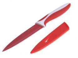 Ocelový nůž s keramickým povlakem Červený 23,5 cm - Nože s keramickým povrchem SMART COOK