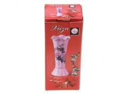 Růžová porcelánová vázička s dekorem Smart Cook