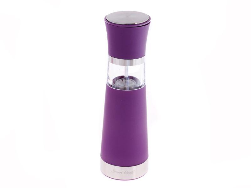 Elektrický mlýnek na koření 20,5 cm fialový s krytkou keramický mlecí mechanismus Smart Cook