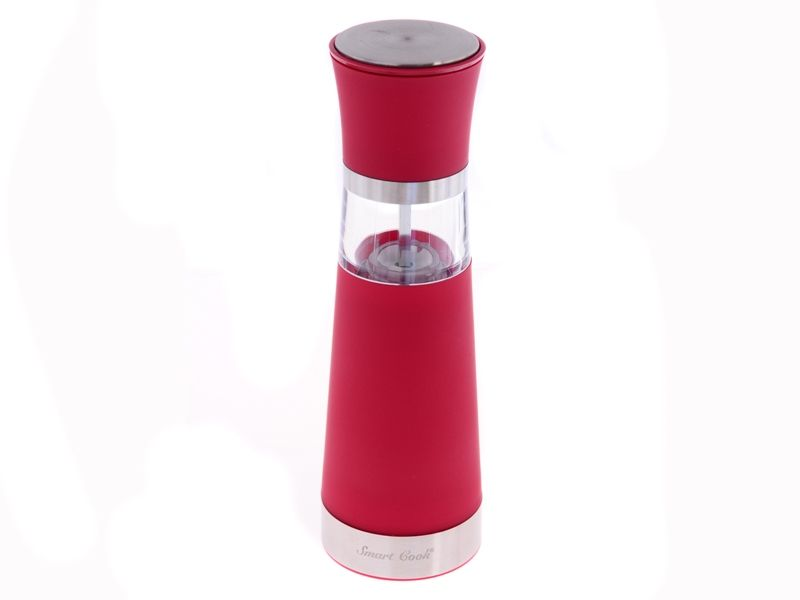 Smart Cook Elektrický mlýnek na koření 20,5 cm růžový s krytkou keramický mlecí mechanismus