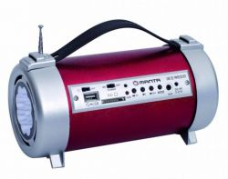 FM rádio s USB, SD a led svítilnou Manta RDI104