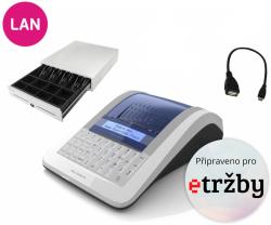 Registrační pokladna EURO-150TEi Flexy EET LAN+WIFI Ethernet + Pokladní zásuvka CD-530 černá