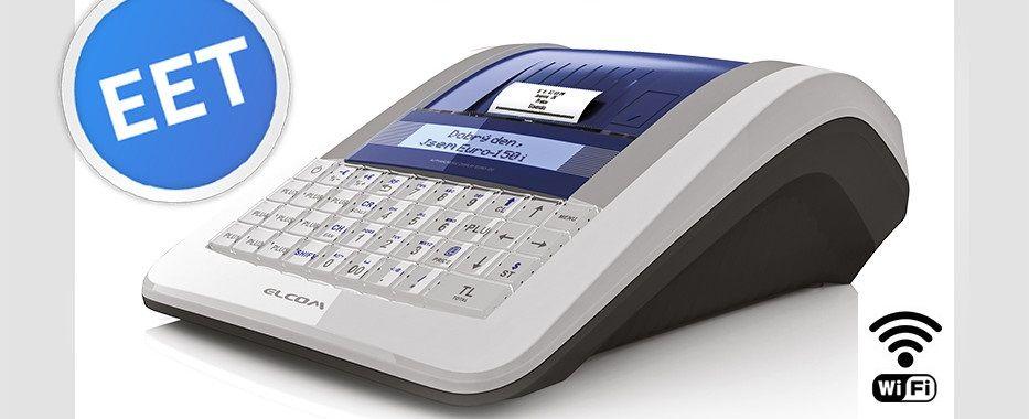 ELCOM Registrační pokladna EURO-150TEi Flexy EET WIFI - Ethernet (LAN) - Jednopásková