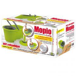 Rotační mop Mop Mopio 76638 točící rukojeť + 2 hlavice zeleno/šedý LONG