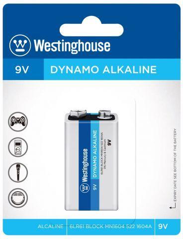 Baterie alkalická Westinghouse 6LR61 9V Dynamo alkalická