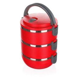 Jídlonosič plastový CULINARIA Red 2,1l, 3 patra