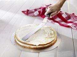 Stěrka / nůž na dort zahnutý, nerezový, 38,5 x 3,5 x 3,2 cm Westmark