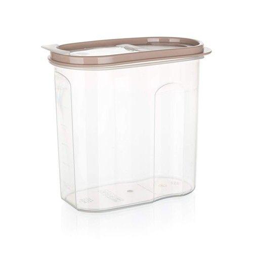 Dóza plastová dávkovací RIVA 1,75 l, hnědá Banquet