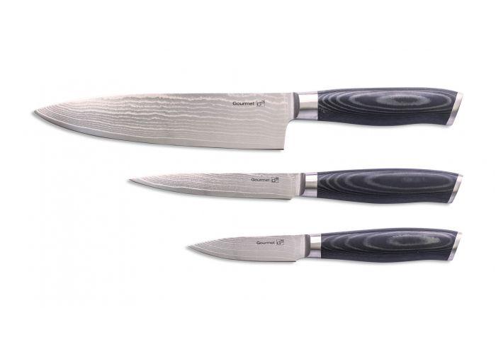 Nože z damascenské oceli sada 3 ks G21 Gourmet Damascus - damaškové nože