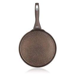 Pánev na palačinky s nepřilnavým povrchem PREMIUM GRANITE Dark Brown 24 x 1,6 cm Banquet