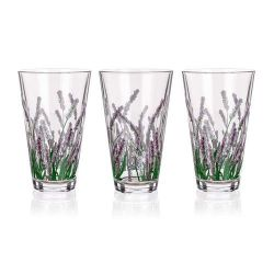 Sada sklenic CITY LAVENDER long 340 ml, 3 ks LEVANDULE