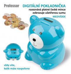 Digitální pokladnička Professor medvídek DP CZK