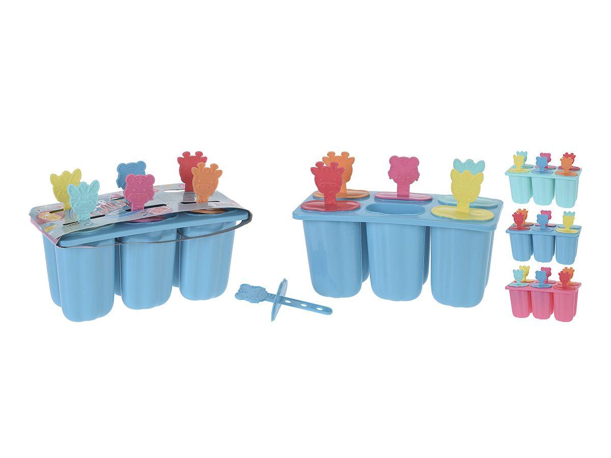 Forma na zmrzlinu - Forma na nanuky 6 ks spojené