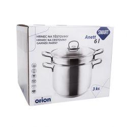 Hrnec nerez na těstoviny ANETT 6 l, 3 díly Orion