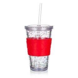 Kelímek s chladící vložkou DOUBLE 450 ml, červený