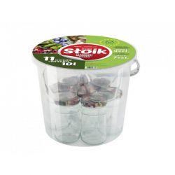 Zavařovací sklenice 11 ks a kbelík