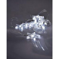 Solight 1V52-W LED vánoční řetěz, hvězdy, 1,5m, 10x LED, 2x AA, bílé světlo