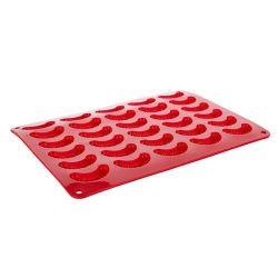 Silikonová forma - rohlíčky 30 ks -35x25x1,3 cm, 165 gr CULINARIA red