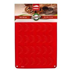 Silikonová forma - rohlíčky 30 ks -35x25x1,3 cm, 165 gr CULINARIA red Banquet