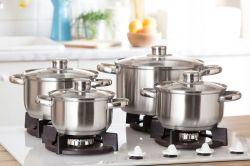 8 dílná sada nerez nádobí s poklicí Polpo Florina Florina