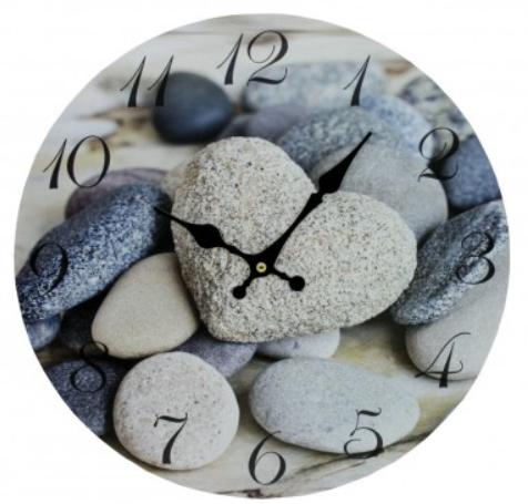 Hodiny nástěnné Kameny 34 cm