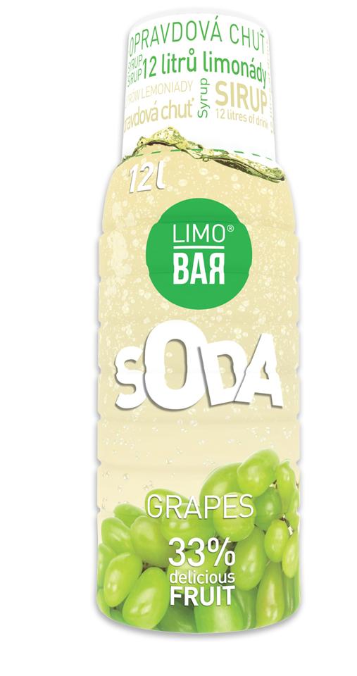 LIMO BAR sirup Hroznové Víno 500 ml