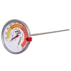 Teploměr do udírny s clipem nerez 33 cm průměr 7,5 cm do 260 °C