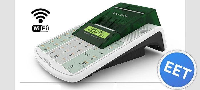 Registrační pokladna EURO 50TEi Mini EET WIFI + RS232 + Samolepka na provozovnu ZDARMA
