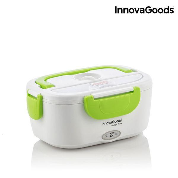 Electrický LunchBox InnovaGoods bílo-zelený