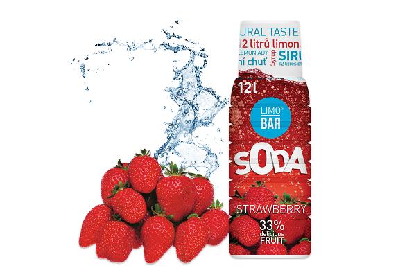 LIMO BAR sirup Jahoda 500 ml
