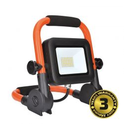Solight LED reflektor PRO se sklopným stojanem, 30W, 2550lm, 5000K, kabel se zástrčkou, IP65