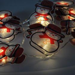 Solight LED řetěz sněhuláci, 10LED řetěz, 1,5m, 2xAA, IP20