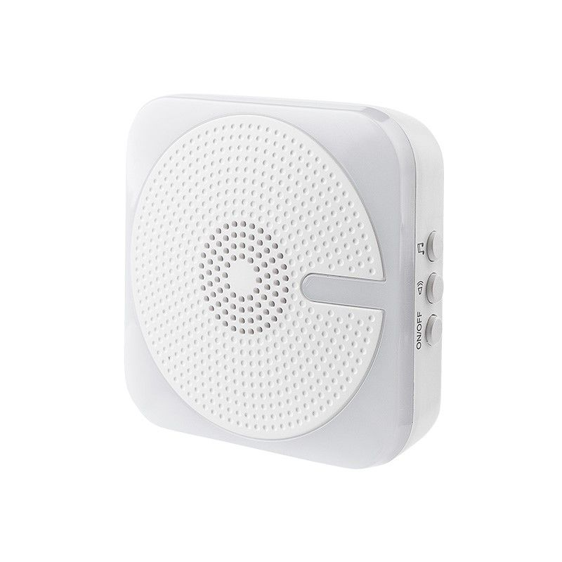 Solight bezdrátový zvonek, do zásuvky, 200m, bílý,světelná signalizace, learning code 1L61