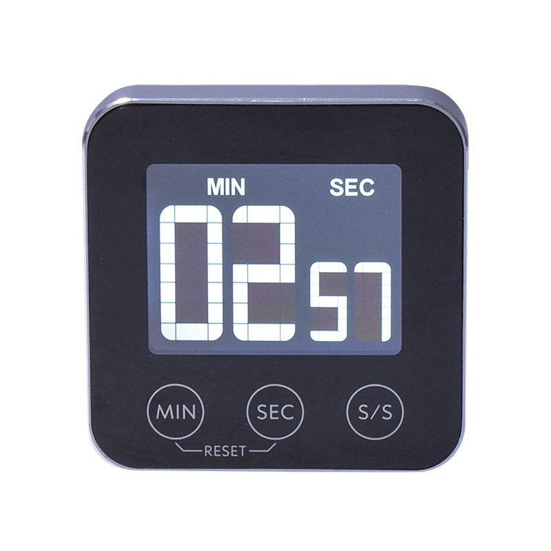 Solight digitální kuchyňská minutka, odpočítání nebo přičítání času, hliník, černá barva, magnet pro přichycení