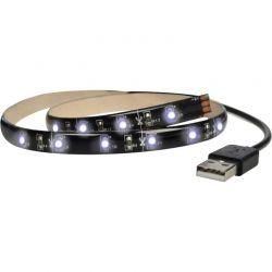 Solight LED pásek pro TV, 100cm, USB, vypínač, studená bílá
