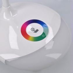 Solight LED stolní lampička nabíjecí, 5W, RGB podsvícení, stmívatelná, USB napájení
