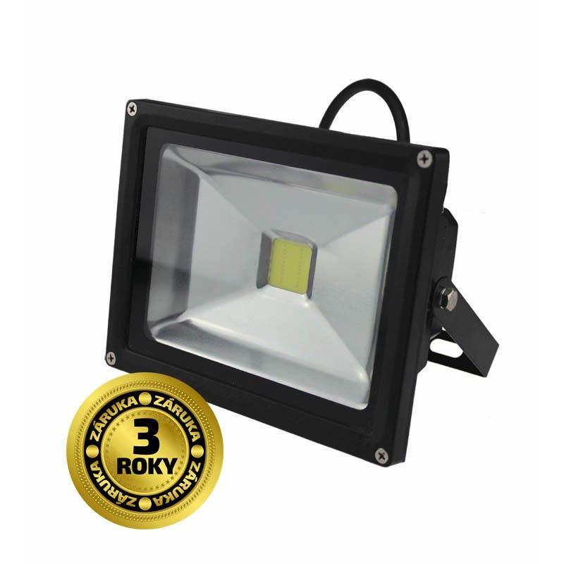 Solight LED venkovní reflektor, 20W, 1600lm, AC 230V, černá WM-20W-E