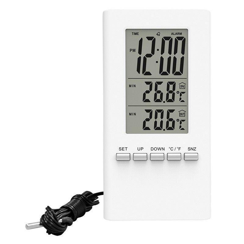 Solight TE09 teploměr, teplota, velký displej, datum, čas, bílý