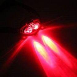 Solight čelová LED svítilna, 1W + 3x LED WH19, černá, 3 x AAA