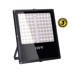 Solight LED venkovní reflektor, 100W, 8500lm, AC 230V, černá