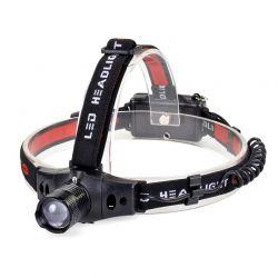 Solight čelová LED svítilna WH18, 3W Cree LED, černočervená, 3 x AAA - Čelovka