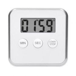 Solight digitální kuchyňská minutka, odpočítání nebo přičítání času, bílá barva