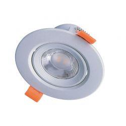 Solight LED podhledové světlo bodové, 5W, 400lm, 4000K, kulaté, stříbrné