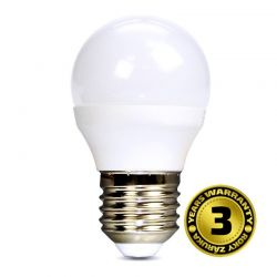 Solight LED žárovka, miniglobe, 6W, E27, 3000K, 450lm