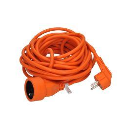 Solight prodlužovací kabel - spojka, 1 zásuvka, oranžová, 7m