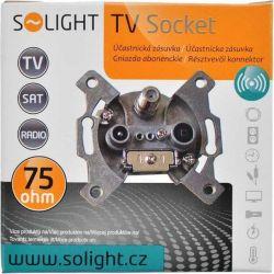 Solight účastnická zásuvka průběžná se SAT, útlum: 7dB
