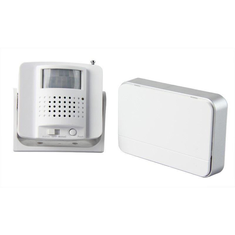 Solight bezdrátový hlásič pohybu/gong, externí PIR čidlo, napájení bateriemi, bílý 1D05